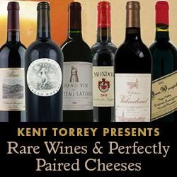 Kent Torrey Presents Rare Wines and Perfectly-Paired Cheeses